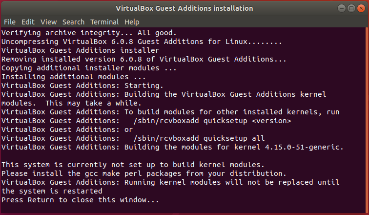 Ubuntu Install Guest VM Addition